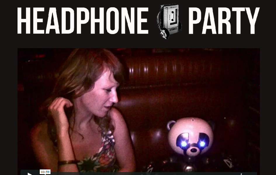 Headphone Party super band website