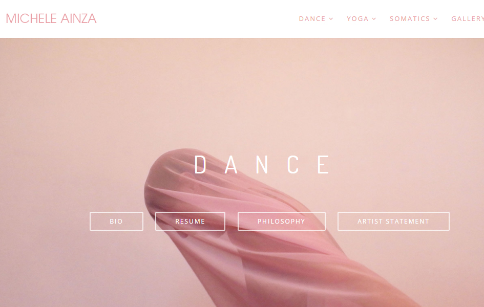 Michele Ainza website design