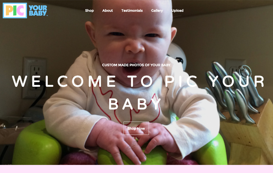 Pic Your Baby Website Design