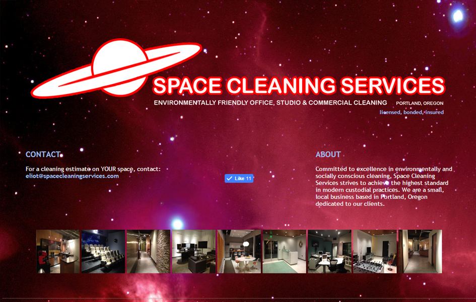 Space Cleaning Services Janitor Business Website