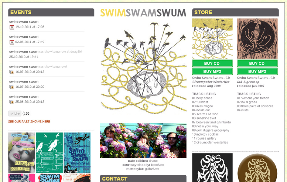 Swim Swam Swum Band Website
