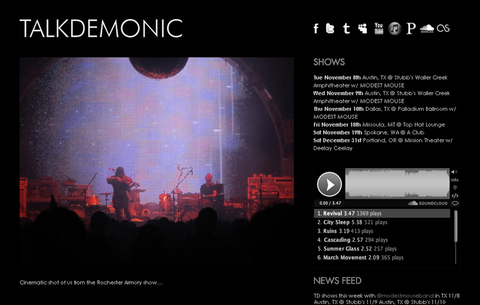 Talkdemonic Band Websites